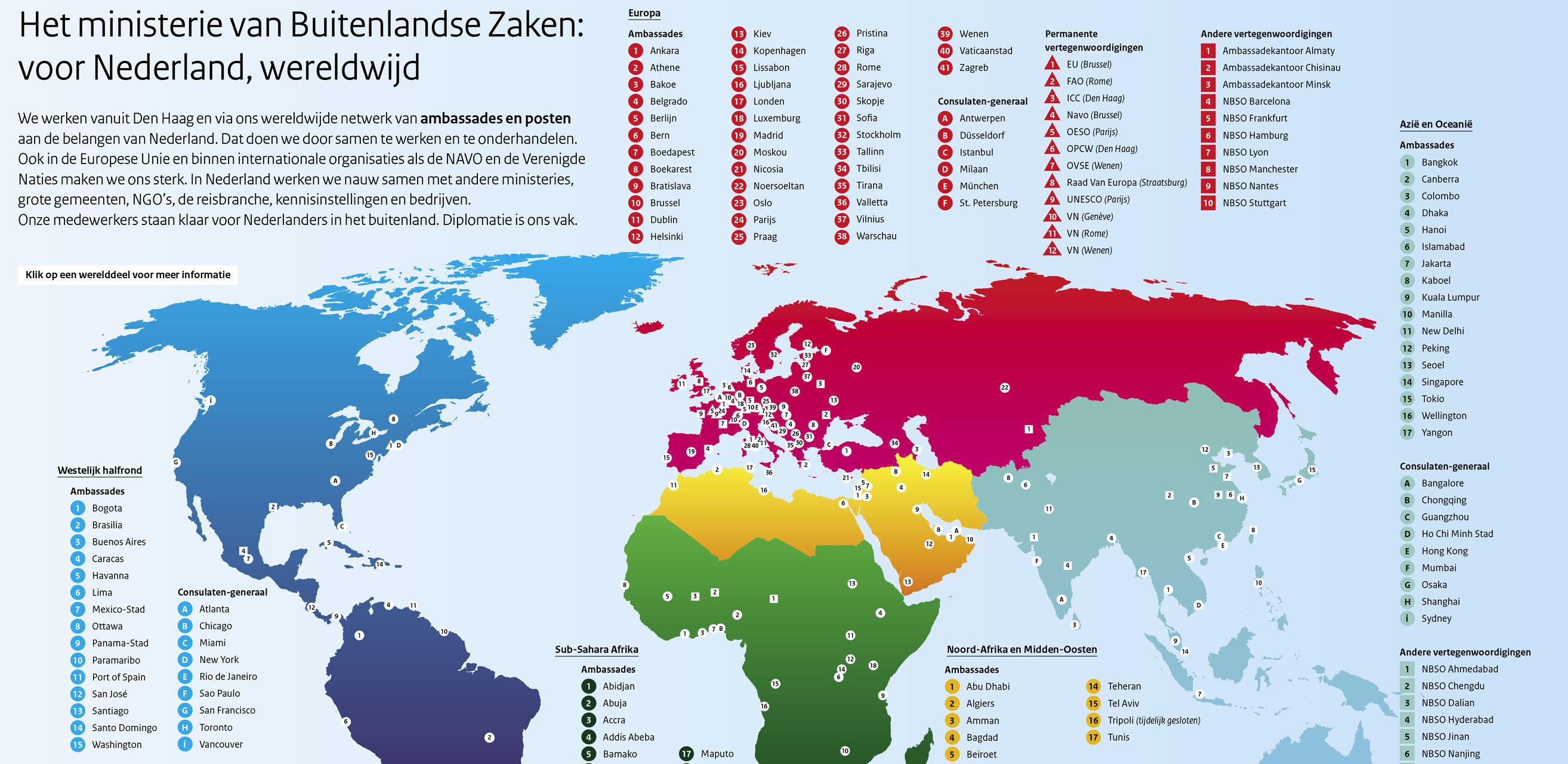 Nederlands netwerk van ambassades en posten