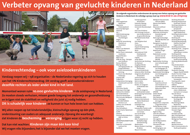 Advertentie Kind in AZC